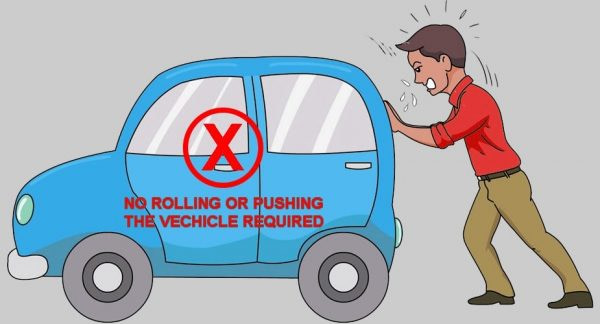 No-pushing-or-rolling-car-required